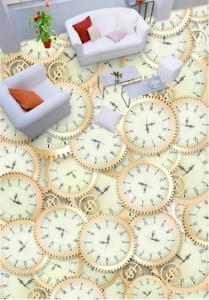 3D Relojes irregulares 532 Impresión De Parojo Papel Pintado Mural de piso 5D AJ Wallpaper Reino Unido Limón