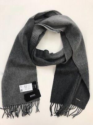 Hugo Boss Scarf 100/% Virgin Wool Heroso Grey 10192020