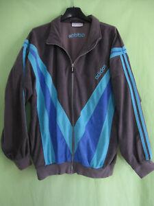 Détails sur Veste Adidas années 80 Vintage velour Grise et violette 80'S jacket 180 L