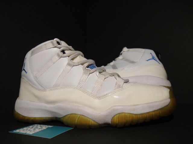 2001 Nike Air Jordan XI 11 Retro WHITE COLUMBIA BLUE BLACK LEGEND 136046-142 12