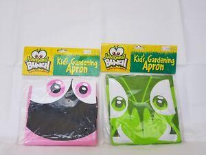 2 X Enfants Tablier-insect Lore Enfants Jardinage Tablier. 1 X Vert Et 1 X Rose. Neuf-afficher Le Titre D'origine