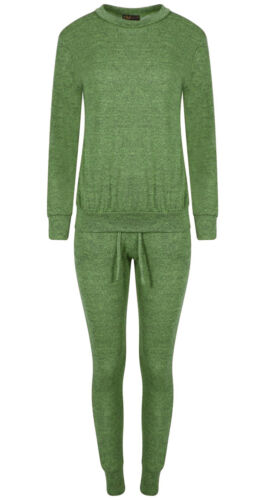 Women Ladies Two Piece Plain Set Nightwear Lounge Wear Casual Joggers Sweater