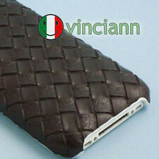 Custodia MARRONE back cover INTRECCIO per iPhone 3GS 3G