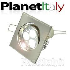Faretto foro incasso 60mm led 3W lampada gu10 3 led 220v luce bianco freddo 40W