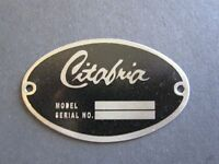 Classic Citabria Dea Required aircraft Identification Data Plate Stainless