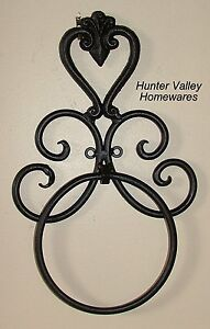 Image Is Loading Wrought Iron Bathroom Accessories Bl Br Heart Wall