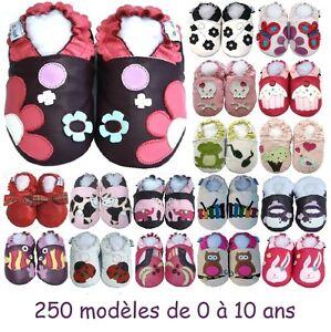 250-modeles-de-chaussons-en-cuir-souple-Bebe-enfant-Fille-de-0-a-10-ans-NEUFS