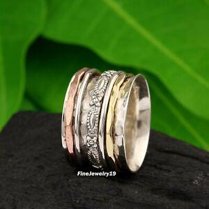 925-Sterling-Silver-Spinner-Ring-Band-Meditation-Ring-Statement-Handmade-Ring-96