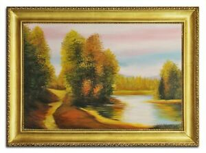 Oil-Painting-Pictures-Hand-Painted-with-Frame-Baroque-Art-G96484