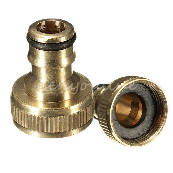 """3/4"""" Male Brass Threaded Hose Tap Adaptor Water Pipe Connector Tube Fitting"""