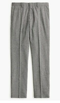 New Men/'s J Crew Ludlow Slim-fit Stretch Chambray Herringbone Olive Pant 36x32