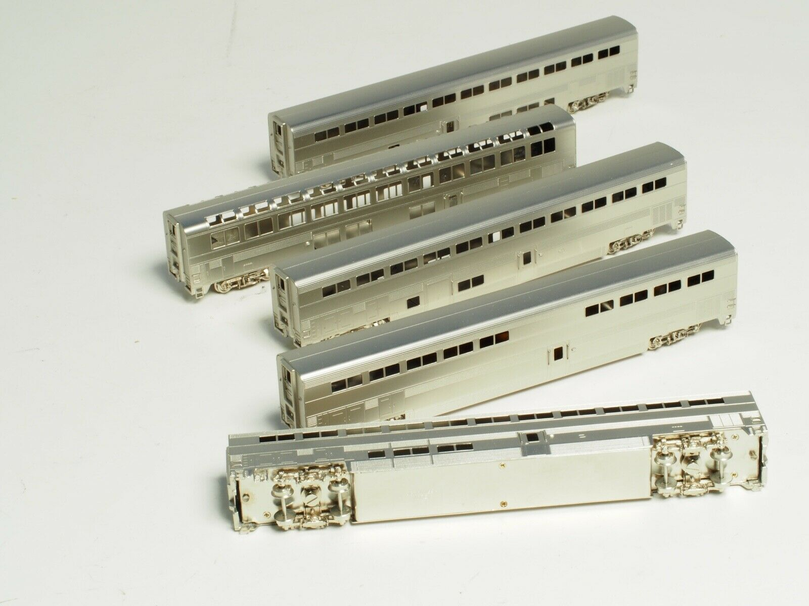 N SCALE BRASS BRASS BRASS AMTRAK SUPERLINERS 5-CAR SET PACIFIC FAST MAIL USA 03dc6f