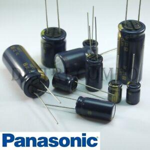 Condensateur 25V électrolytique radial Panasonic 105° valeur au choix FC Low ESR