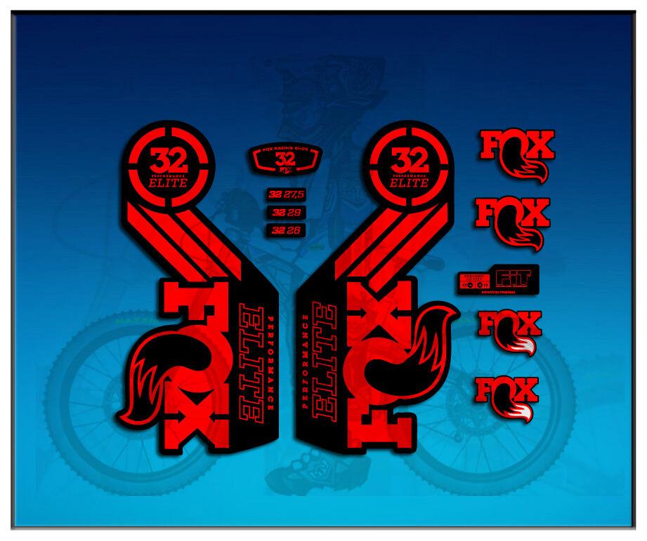 AUTOCOLLANTS 32 FOURCHE FOX 32 AUTOCOLLANTS PERFORMANCE ELITE AM98 ADHÉSIF f46049