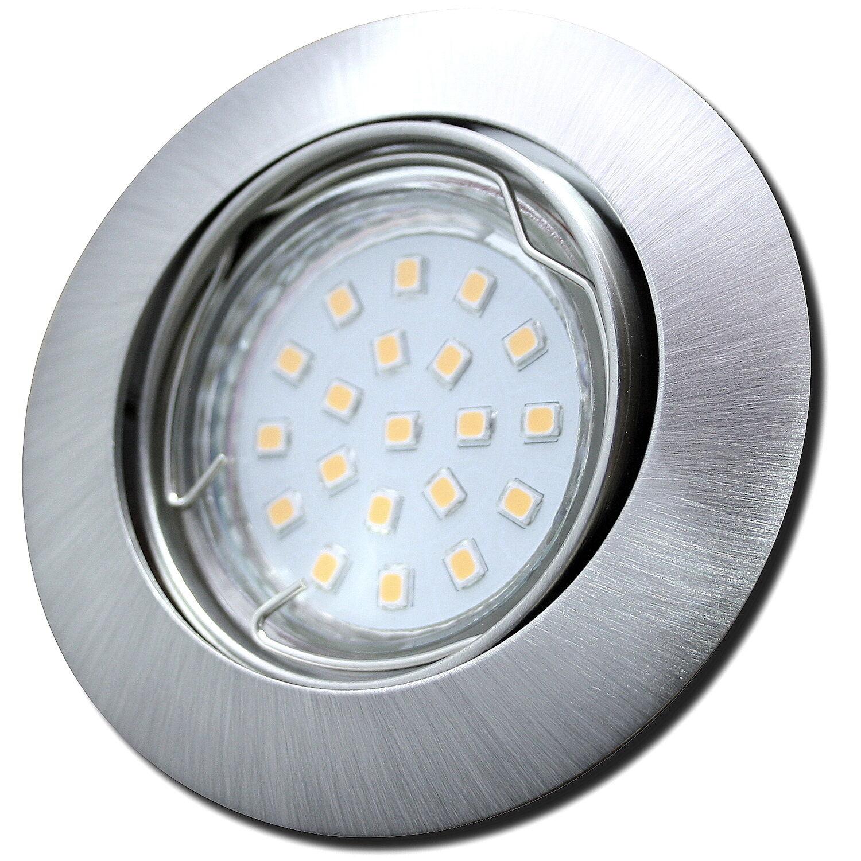 5 x LED Einbaustrahler Fabian 230Volt Downlights 3W Spot Betrieb ohne LED Trafos