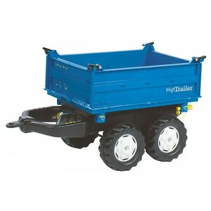 trailer New Mega Remorque Rolly Benne Bleu Holland Toys vEtvqx