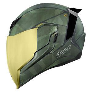 ICON-AIRFLITE-034-BATTLESCAR-2-034-HELMET-MOTORCYCLE-LID-GOLD-SHIELD-PICK-SIZE