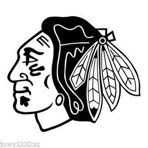 X Chicago Blackhawks Vinyl Decal Sticker Many Colors Car Window - Window stickers for cars chicago