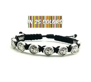 Details about St Francis of Assisi Bracelet Patron Saint Medals Catholic  Jewelry Gift - Black