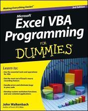 Excel VBA Programming For Dummies, Walkenbach, John, Good Book