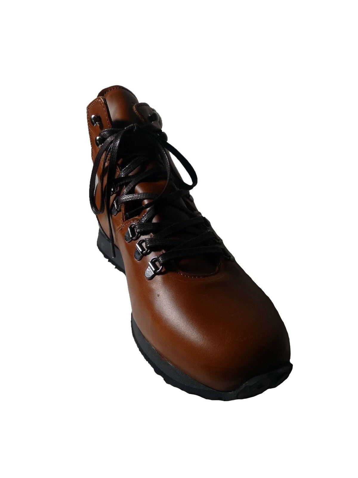 NIB Men Campana De Goma botas Impermeables Concord Cuero Camel M-US