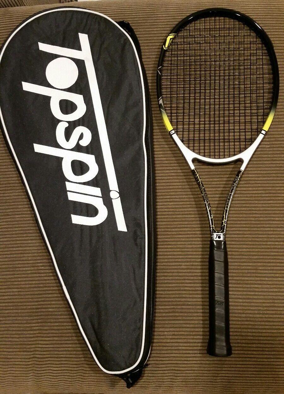 Nueva marca Topspin CL603 Raqueta De Tenis 4 1 2 de agarre, Encordada, incluye caja