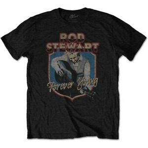 ROD-STEWART-Forever-Crest-Mens-T-Shirt-Unisex-Tee-Official-Licensed-Band-Merch