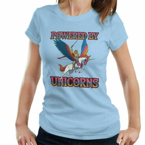 Powered By Unicorns She Ra He Man Women/'s T-Shirt