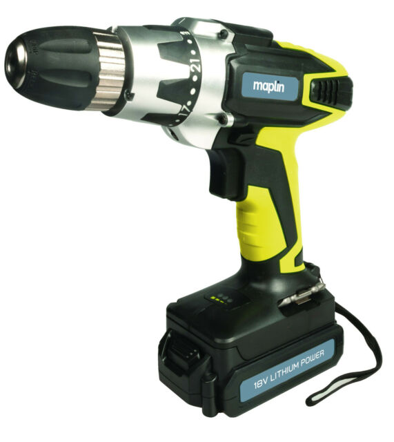 Lithium-Ion Cordless Drill Driver 18V 0-550 rpm 1300mAh 1.55kg 3-5h Battery Life