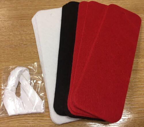 48 multi colour MYO Felt Bookmarks Craft Blanks pack of 12 ribbons 15cm long