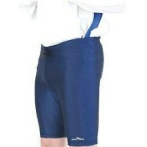Sport-Lycra-Under-Shorts-Navy-SMALL-30-32-034-Waist-Football-Rugby-Support-Training