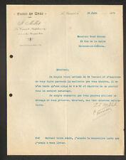 "LE CREUSOT (71) TISSUS en gros ""J. MILLOT"" en 1926"