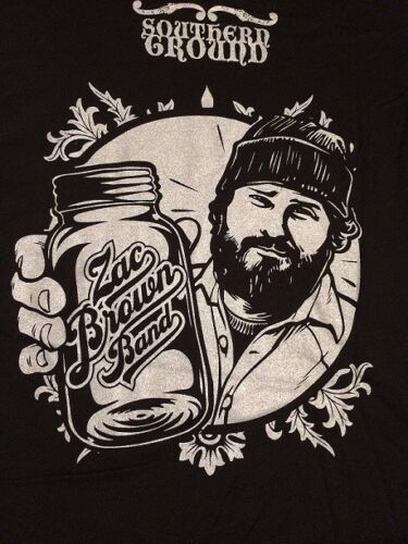"""Mens LG /& SM Brand New Zac Brown Band /""""Southern Ground/"""" T-Shirts Buy1 Get1 FREE"""
