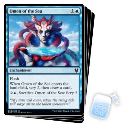 FOIL OMEN OF THE SEA X4 Theros Beyond Death THB Magic MTG MINT CARD
