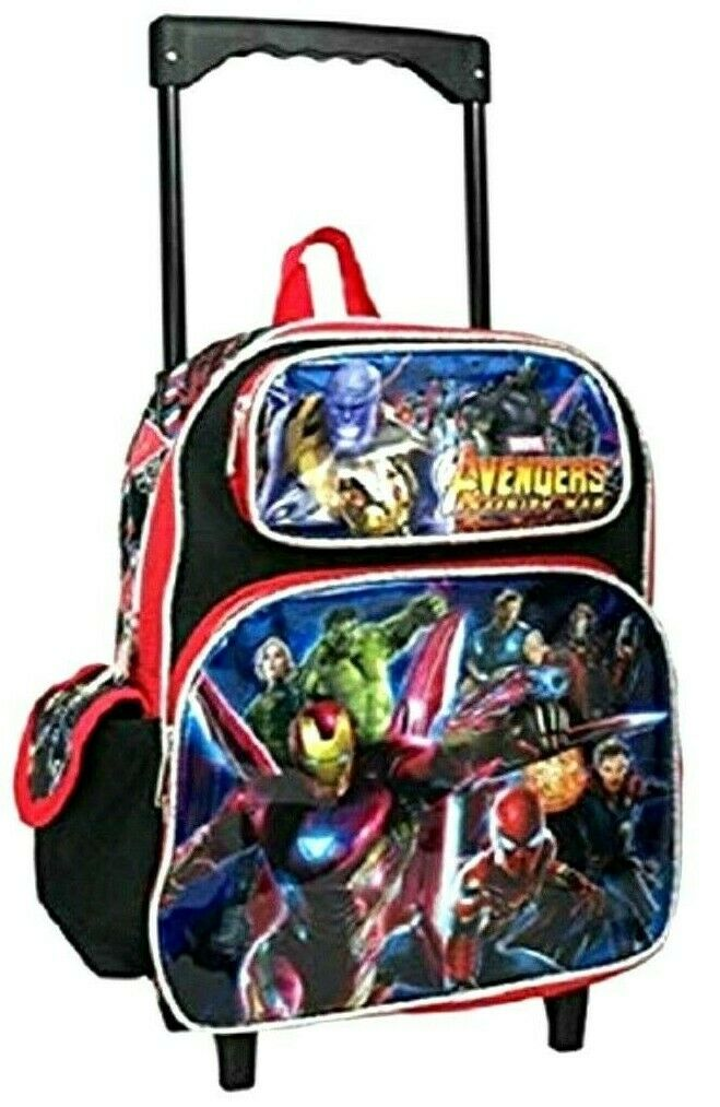 Avengers Infinity War Rolling 16  Backpack with two main compartSiets-Brand New
