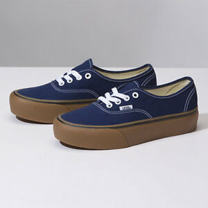 Vans Authentic Platform 2.0 (Gum) Medieval Blue True Fast Shipping ... 19cbcc1c6