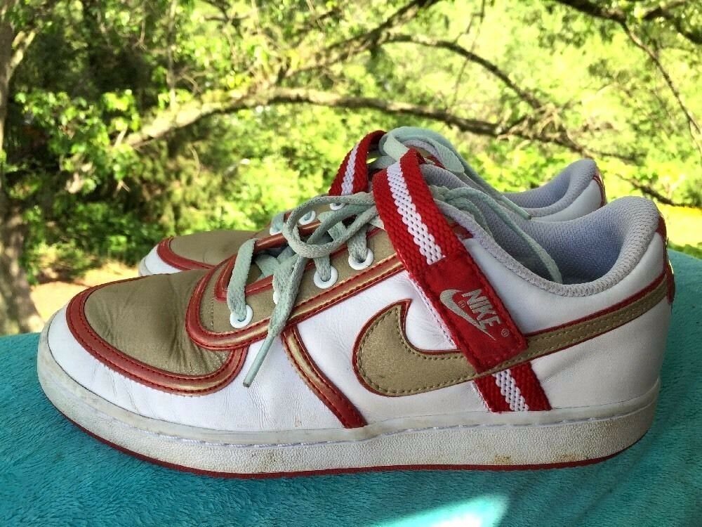 NIKE Air Max RED & GOLD Leather Fashion Athletic Cortez Sneaks Womens Shoes Sz 9 Seasonal price cuts, discount benefits