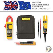 Fluke 324 Digital Clamp Meter + T5-1000 Voltage & Continuity + 1AC + C115 Case
