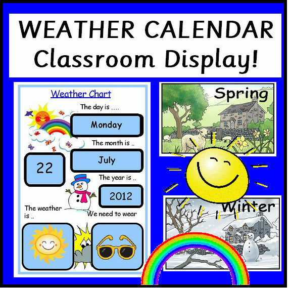Weather Chart Calendar Teaching Resources Class Display Childminder
