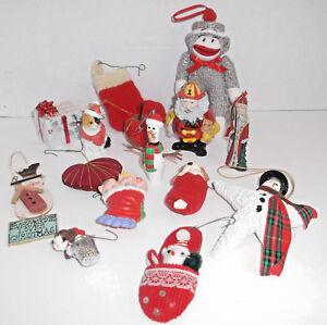 Mixed Lot CHRISTMAS TREE ORNAMENTS & Decorations Sock ...