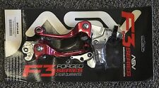 ASV F3 Brake Clutch Lever Set Red Hot Short Honda CRF150R CRF250R CRF450R