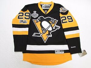 wholesale dealer ad48a 3f67a Details about MARC-ANDRE FLEURY PITTSBURGH PENGUINS HOME 2017 STANLEY CUP  FINAL REEBOK JERSEY