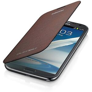 Samsung-Flip-Premium-Case-Cover-for-Samsung-Galaxy-Note-2-N7100-Amber-Brown