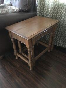 Image Is Loading Tell City Chair Company Tanbark Oak Nesting Tables