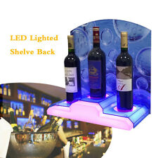3 Bottle Led Lighted Illuminated Liquor Bottle Display Stand Back Bar Shelving