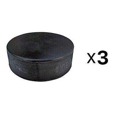 A/&R Ice Hockey Puck Black Practice Hard Vulcanized Rubber Lightweight 2-Pack