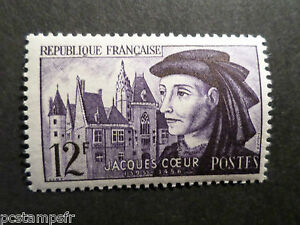 France 1955, Timbre 1034, Jacques Coeur, Neuf**, Vf Mnh Stamp, Celebrity Volume Large