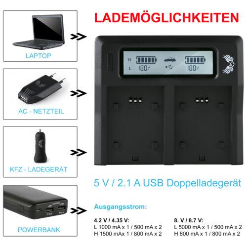 SK Akku Dual Ladegerät für Sony NP-FZ100 Sony Alpha 7 III 7R III 7M3 7RM3 90364