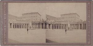 Roma-Vaticano-Enrico-Verzaschi-Italia-Stereo-Vintage-Albumina-Ca-1870