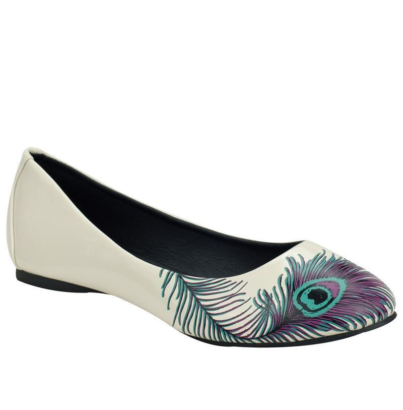 T.U.K FLAT a8570l Peacock Feather FEMME FLAT T.U.K b29a25